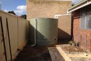 Round Steel Rainwater Tank - Pale Eucalypt