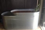 Galvanised Tiered Aquaponics Tank