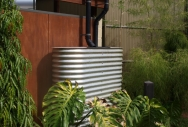 Slimline Rainwater Tank made for Perth Zoo