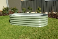 400 High Rectangular Raised Garden Bed - Pale Eucalypt