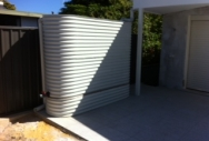 Slimline  Rainwater Tanks & Earth Ring - Shale Grey