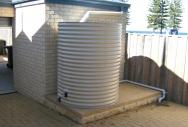Round Rainwater Tank - Paperbark