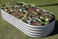 Zincalume Rectangular Garden Bed