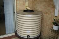 Squat Round Rainwater Tank - Paperbark