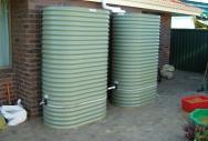 Slimline Rainwater Tanks - Pale Eucalypt