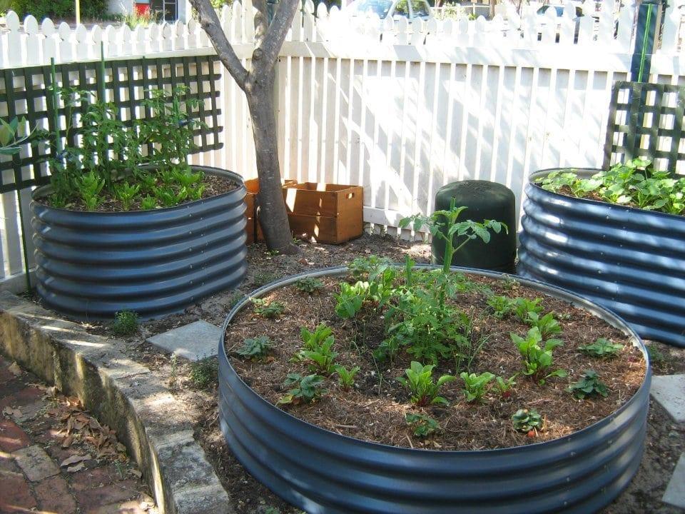 Round Planter Curved Roofing Water Tanks Raised Garden