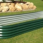 Oblong Raised Garden Bed – 800x3000x400 Cottage Green