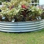 Round Garden Planter – 400 High Zincalume