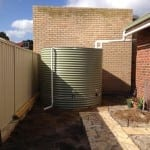Round Pale Eucalypt Rainwater Tank & Earth Ring