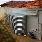 Galv Rainwater Tank and Pump