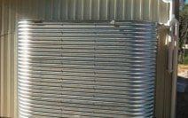 Galvanised Oblong Rainwater Tank