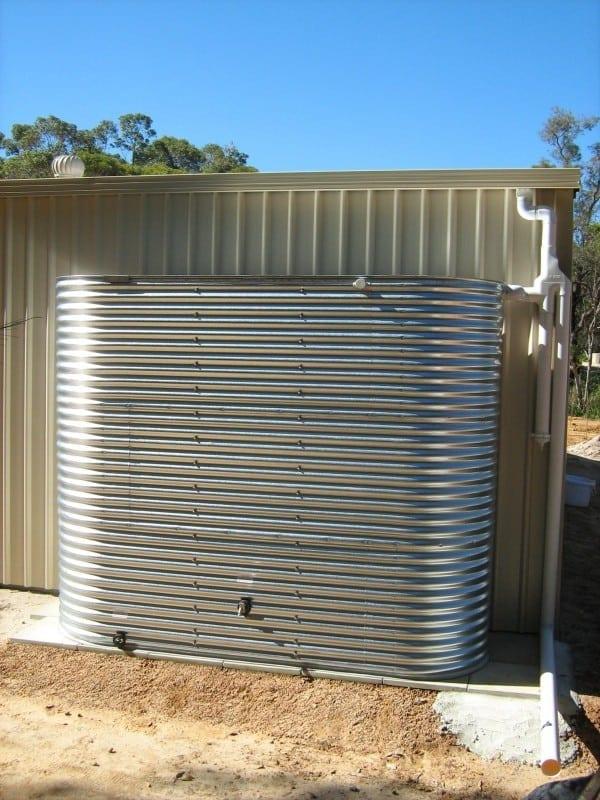Galvanised Oblong Rainwater Tank