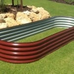 Oblong Raised Garden Bed – 800x3000x400 Manor Red
