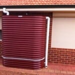 Oblong Rainwater Tank & Stand – Manor Red