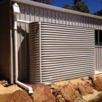 Slimline Rainwater Tank – Paperbark