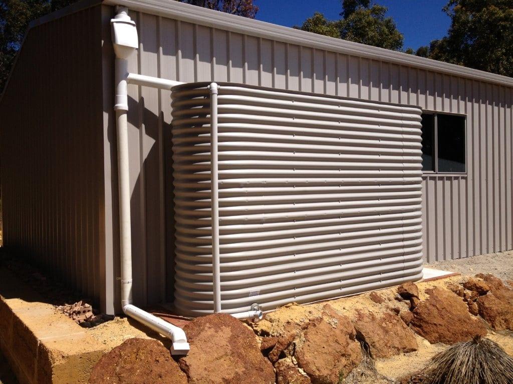 Slimline Rainwater Tank - Paperbark