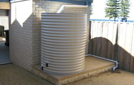 Round Rainwater Tank - Papebark