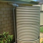 Round Paperbark Rainwater Tank with Earth Ring