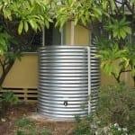 Galvanised Round Rainwater Tank