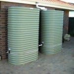 Slimline Rainwater Tanks with Earth Ring – Pale Eucalypt