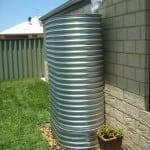 Galvanised Oblong Rainwater Tank and Earth Ring