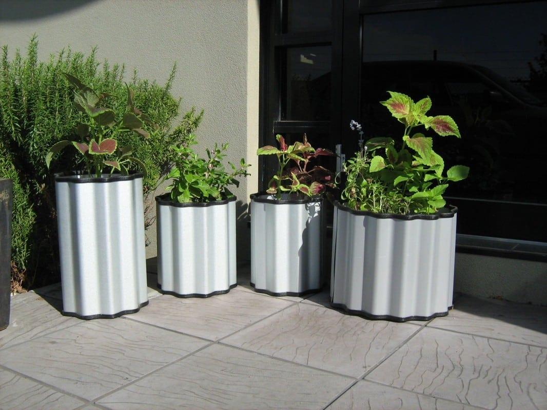 custom garden planters - Zincalume