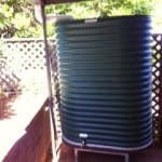 Oblong Rainwater Tank & STand – Cottage Green