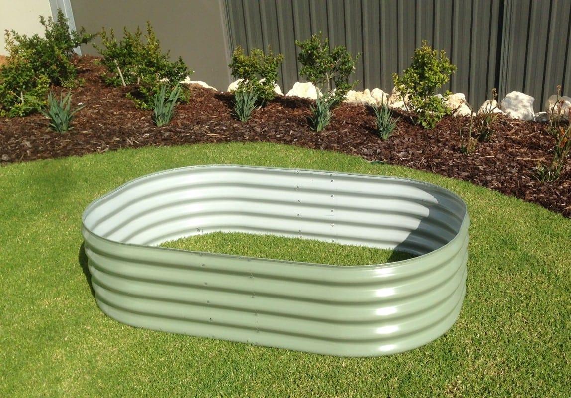 Rectangular Raised Garden Bed - 1000x1500x400 Pale Eucalypt